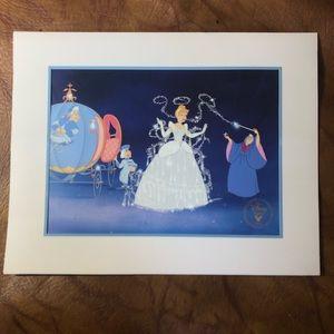 Vtg 1995 Disney Cinderella lithograph